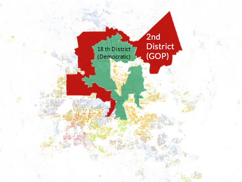 18th Congressional District in Houston